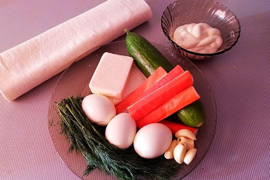 Набор продуктов для начинки лаваша