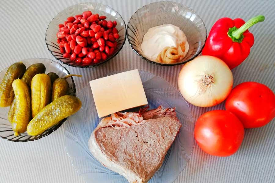 Ингредиенты для салата Мексика