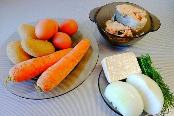 Набор продуктов для приготовления салата Мимоза