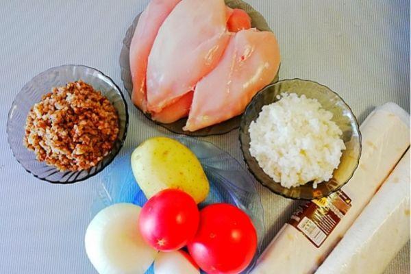 Ингредиенты для лаваша в духовке.