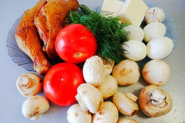 Ингредиенты для салата Любимый муж