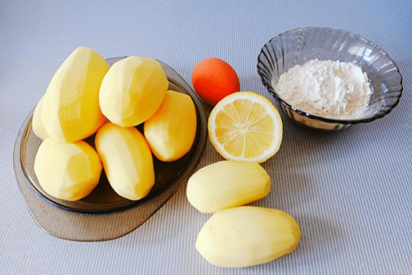 Драники из картофеля. Ингредиенты.